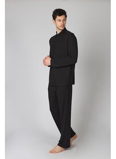 Hays Pijama Üst Siyah